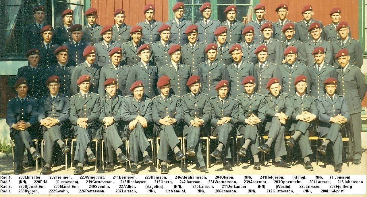 FJS andra pluton 1970/71